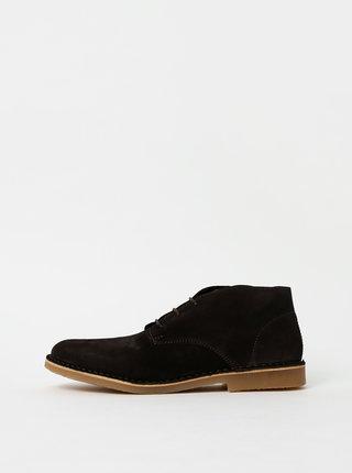 Tmavě hnědé pánské semišové kotníkové boty Selected Homme Royce