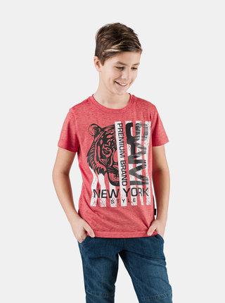 Červené klučičí tričko s potiskem SAM 73