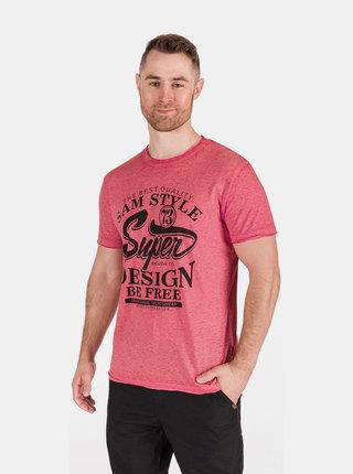 Červené pánské tričko s potiskem SAM 73