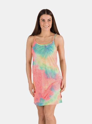 Modro-růžové dámské šaty SAM 73