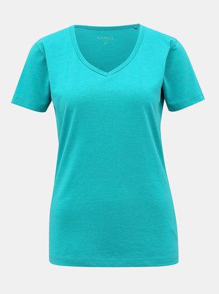 Tyrkysové dámské basic tričko SAM 73