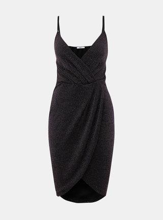 Černé třpytivé šaty Haily´s Disco