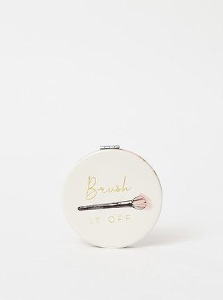 Bílé kompaktní zrcátko s potiskem CGB Brush It Off