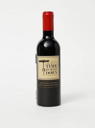 Černá sada na víno ve tvaru lahve CGB