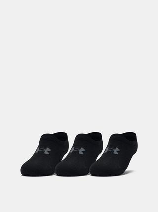 Sada tří párů černých dámských ponožek Ultra Under Armour