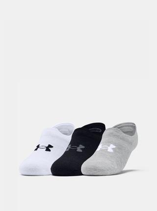 Sada tří párů bílých dámských ponožek Ultra Under Armour