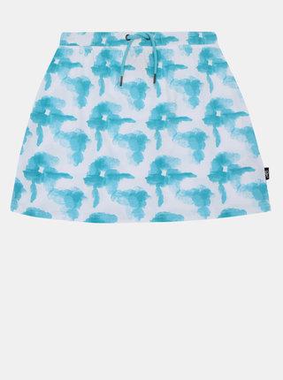 Bílo-tyrkysová holčičí vzorovaná sukně SAM 73