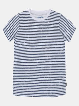 Modro-bílé dětské pruhované tričko SAM 73