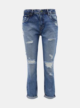 Modré dámske mom fit rifle Pepe Jeans