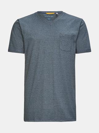 Šedé pánske pruhované tričko killtec Hadero