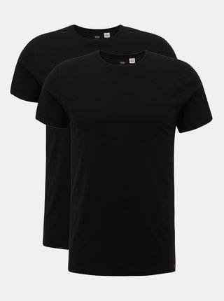 Sada dvou černých pánských basic triček Levi's®