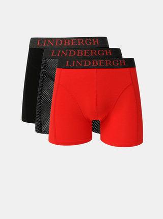 Sada troch boxeriek v čiernej a červenej farbe Lindbergh
