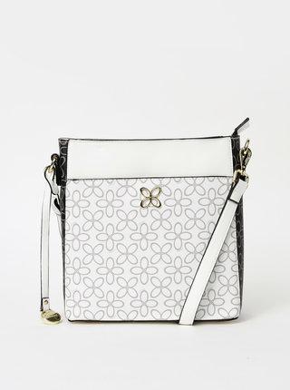 Biela vzorovaná crossbody kabelka Gionni Borana