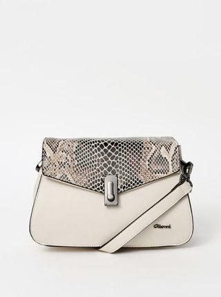 Krémová crossbody kabelka s hadím vzorom Gionni Adabelle