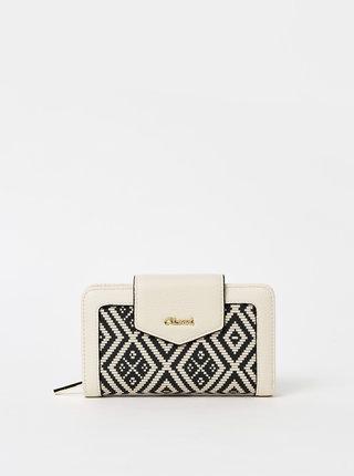 Krémová vzorovaná peňaženka Gionni Dagari