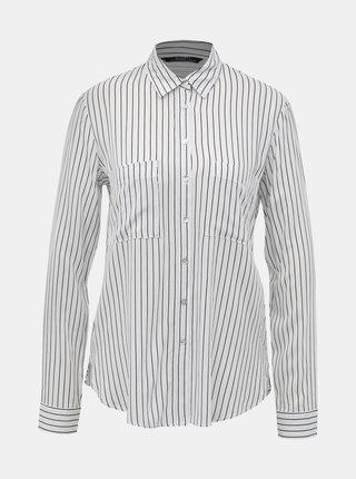 Biela dámska pruhovaná košeľa Alcott