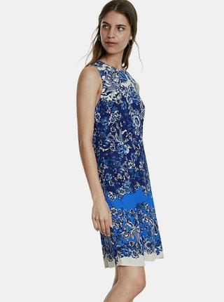 Modré květované šaty Desigual