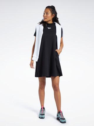 Čierne šaty s výšivkou Reebok