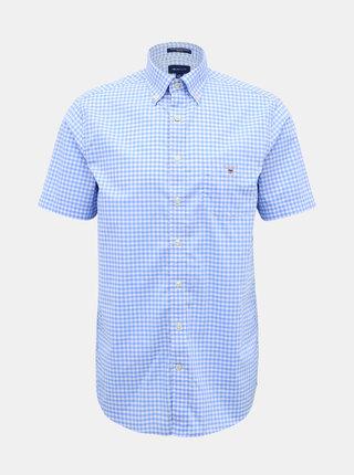 Modrá pánska kockovaná košeľa GANT