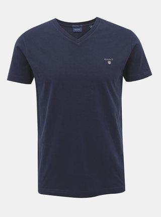 Tmavomodré pánske basic tričko GANT