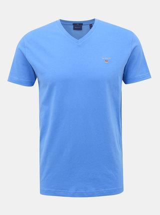 Modré pánské basic tričko GANT