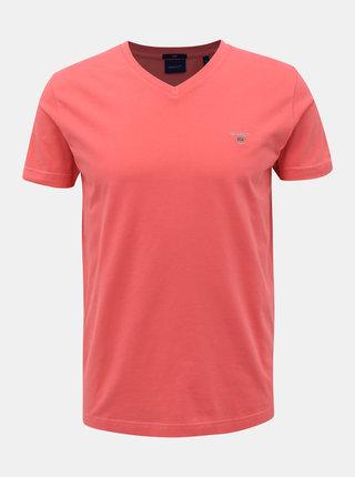 Růžové pánské basic tričko GANT
