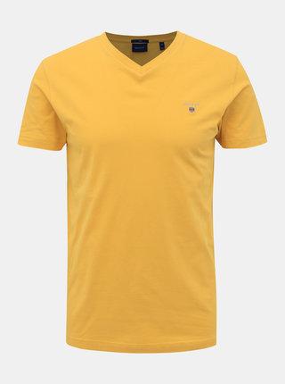 Žluté pánské basic tričko GANT