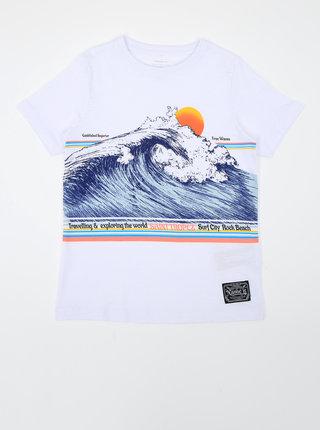 Bílé klučičí tričko s potiskem name it Fagiolo