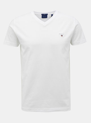 Bílé pánské basic tričko GANT
