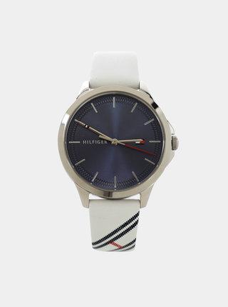 Dámske hodinky s bielym koženým remienkom Tommy Hilfiger