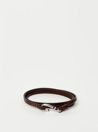 Hnědý pánský kožený náramek Tommy Hilfiger