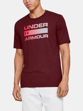 Červené pánské tričko Team Issue Wordmark Under Armour
