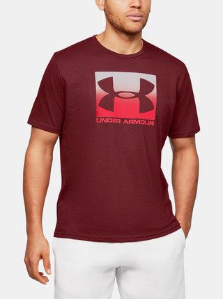 Vínové pánské tričko Boxed Under Armour