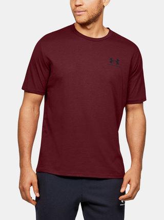 Vínové pánské tričko Under Armour