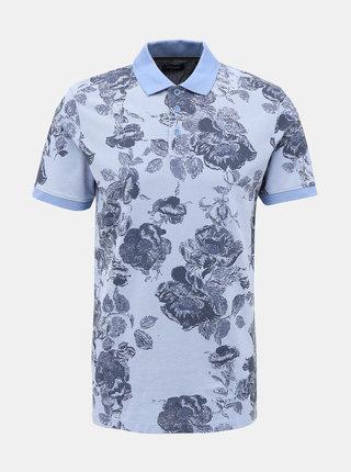 Modré květované polo tričko Jack & Jones Nick