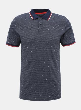 Tmavě modré vzorované polo tričko Jack & Jones Carlo