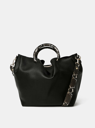 Černá kabelka Pieces Alicia