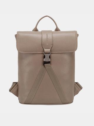 Béžový kožený batoh Smith & Canova Buckle