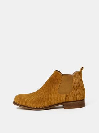 Hnedé dámske vzorované semišové chelsea topánky OJJU