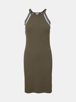 Khaki pouzdrové šaty Noisy May Valsan
