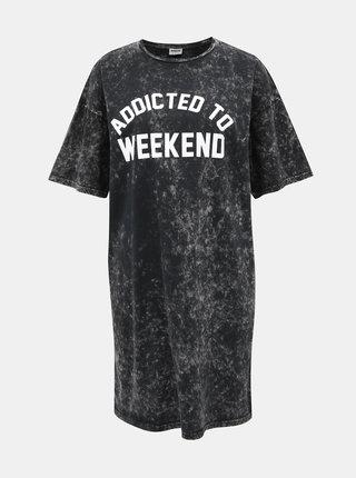 Čierne šaty s potlačou Noisy May Weekend