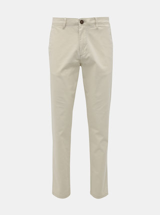 Krémové chino nohavice Jack & Jones Marco