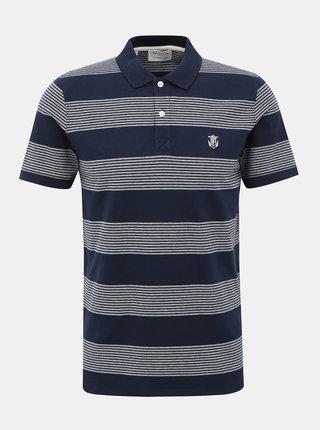 Tmavě modré pruhované polo tričko Selected Homme Haro