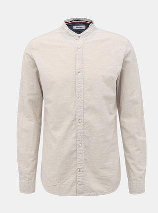 Krémová košile s příměsí lnu Jack & Jones Summer