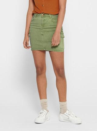 Zelená rifľová sukňa ONLY Missouri