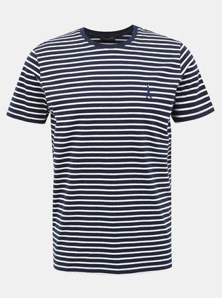 Tmavě modré pruhované tričko Selected Homme Estate