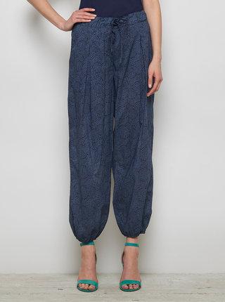 Tmavě modré vzorované volné kalhoty Tranquillo