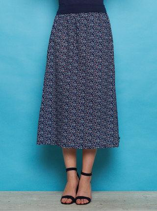 Tmavě modrá vzorovaná maxi sukně Tranquillo