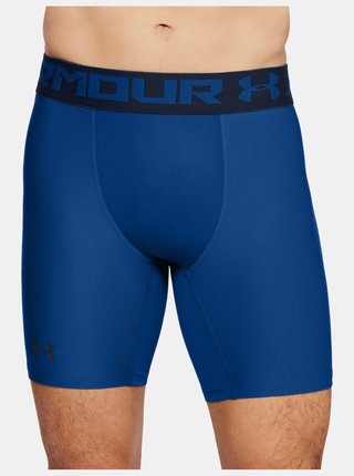 Modré kompresní boxerky HeatGear Under Armour