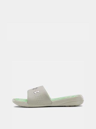Bílé dámské pantofle Under Armour